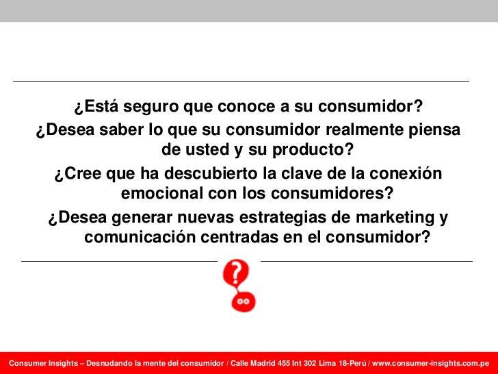 Aprendiendo a frasear insights del consumidor: Algunos ejemplos Slide 2
