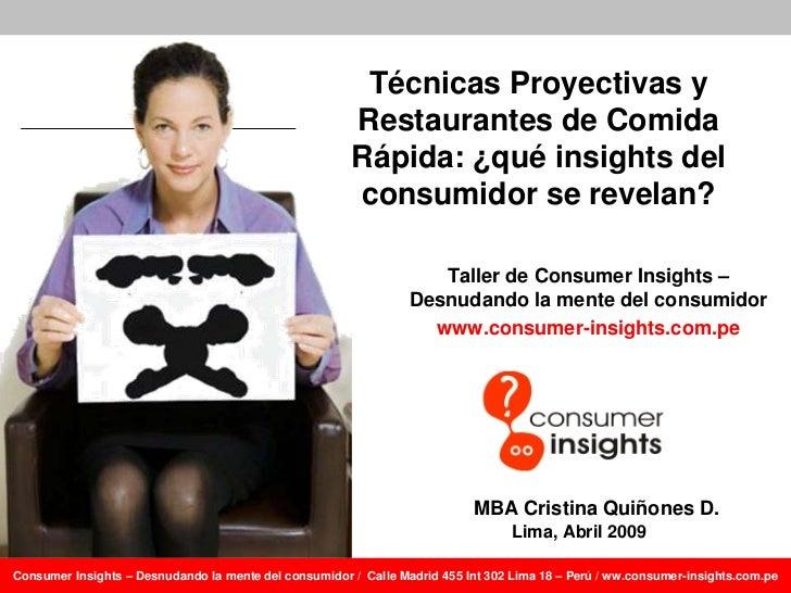 Técnicas Proyectivas y                                                        Restaurantes de Comida                      ...