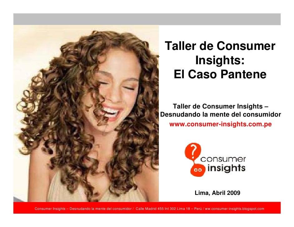 Taller de Consumer                                                                                 Insights:              ...