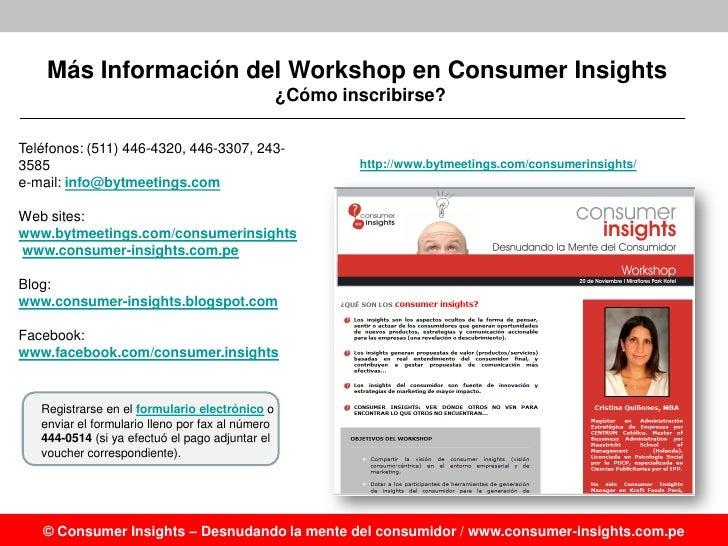 Consumer insights workshop desnudando la mente del for Telefono oficina del consumidor