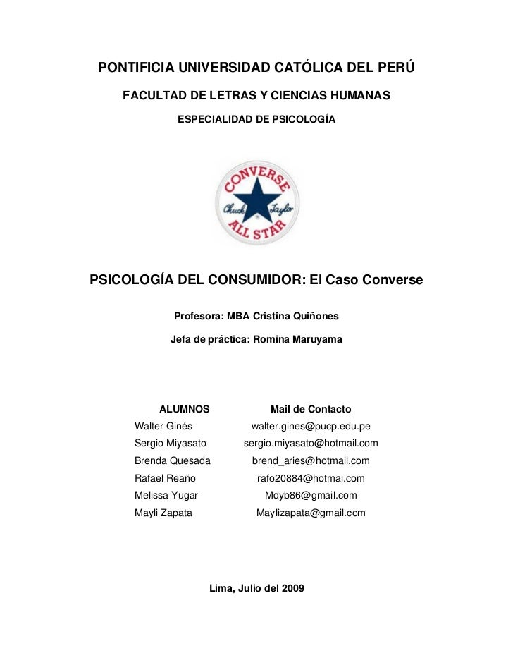 PONTIFICIA UNIVERSIDAD CATÓLICA DEL PERÚ      FACULTAD DE LETRAS Y CIENCIAS HUMANAS               ESPECIALIDAD DE PSICOLOG...