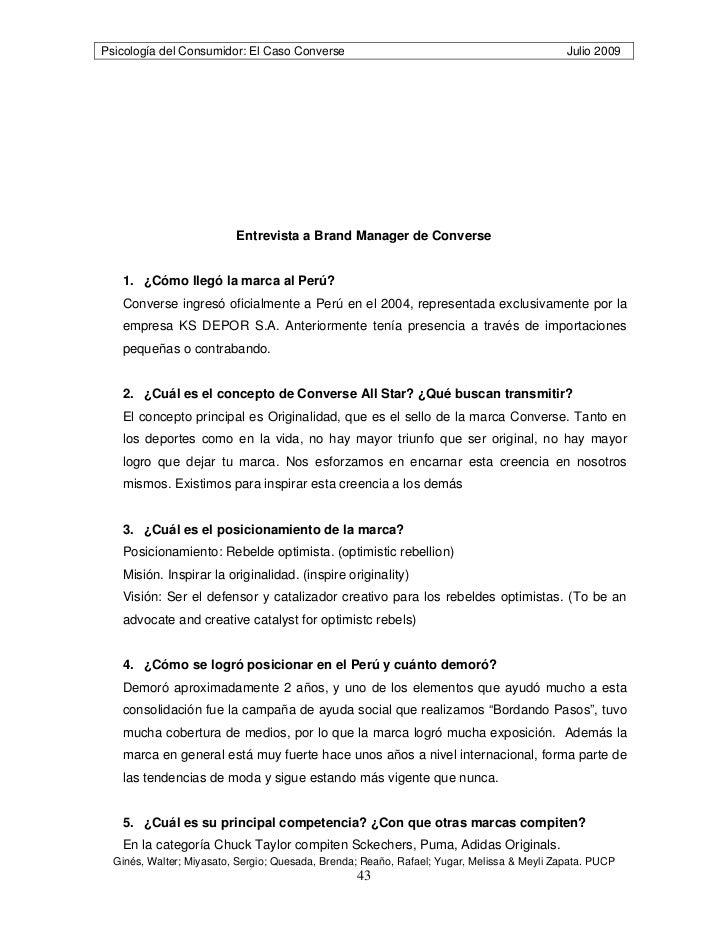 Psicología del Consumo: el Caso de Zapatillas Converse