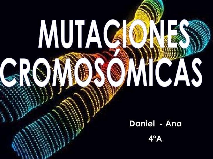 MUTACIONES CROMOSÓMICAS Daniel  - Ana  4ºA