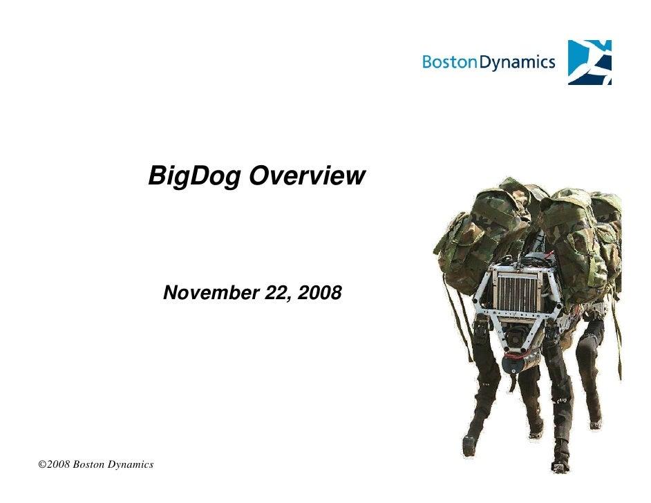 BigDog Overview                            November 22, 2008     ©2008 Boston Dynamics