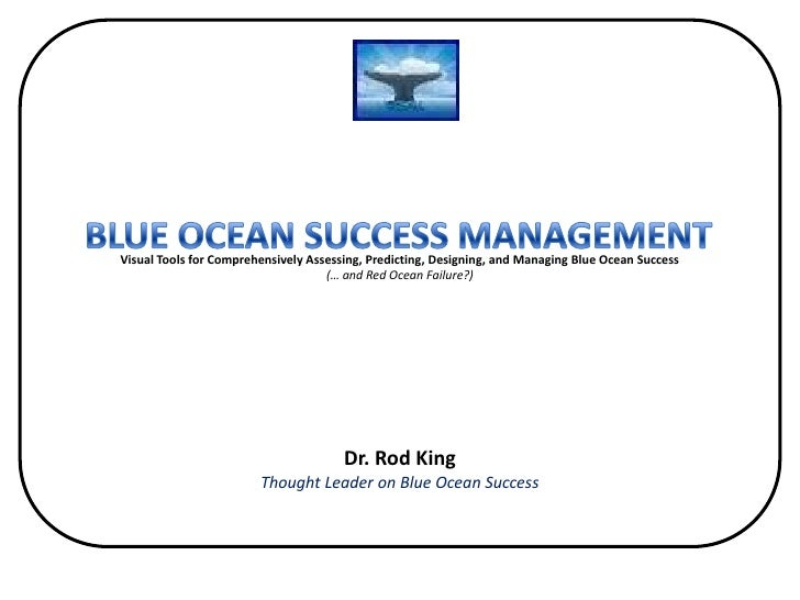 Visual Tools for Comprehensively Assessing, Predicting, Designing, and Managing Blue Ocean Success(… and Red Ocean Failure...