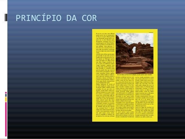 PRINCÍPIO DA COR