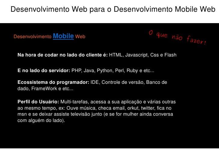 O que um profissional precisa saber para ser um Dev. Mob. Web?