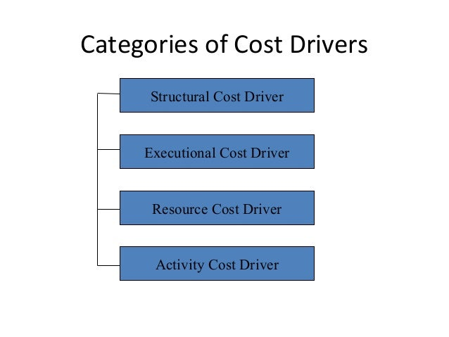 Executional cost drivers are the factors the