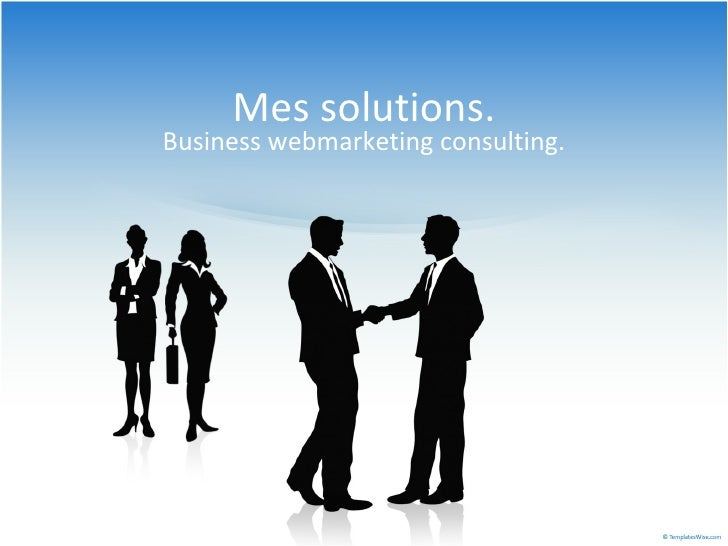Mes solutions. Business webmarketing consulting.