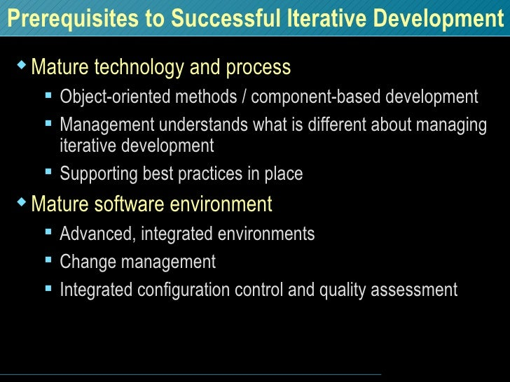 <ul><li>Mature technology and process </li></ul><ul><ul><li>Object-oriented methods / component-based development </li></u...