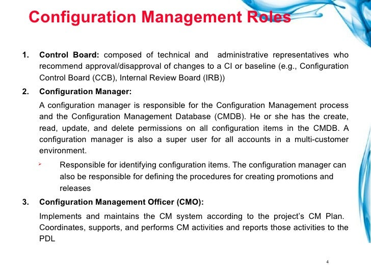 Change And Configuration Management Plan Template  Trainingables