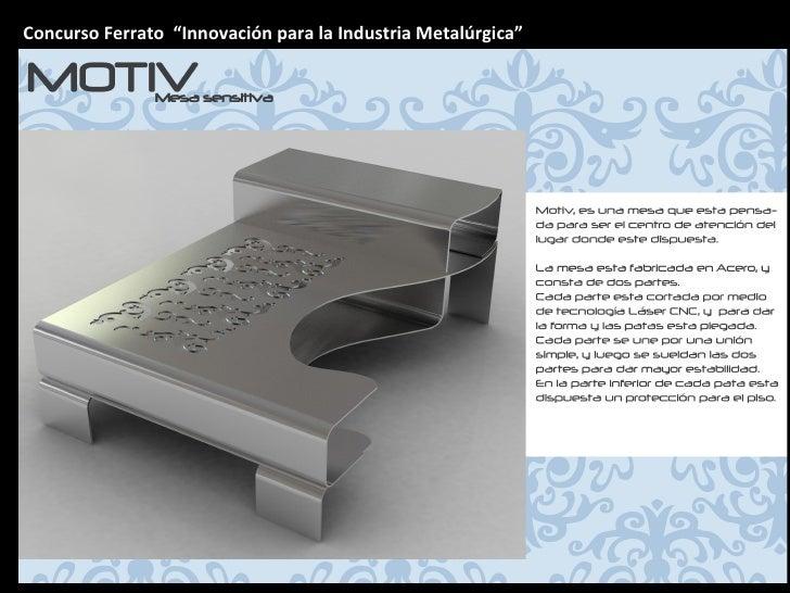 """Concurso Ferrato  """"Innovación para la Industria Metalúrgica"""""""