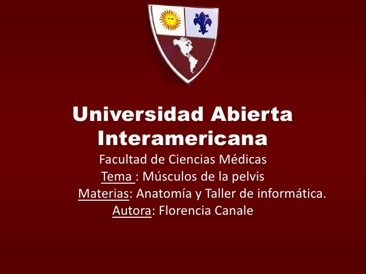 Universidad Abierta InteramericanaFacultad de Ciencias MédicasTema : Músculos de la pelvisMaterias: Anatomía y Taller de i...