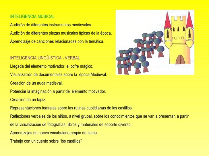 INTELIGENCIA MUSICAL Audición de diferentes instrumentos medievales. Audición de diferentes piezas musicales típicas de ...