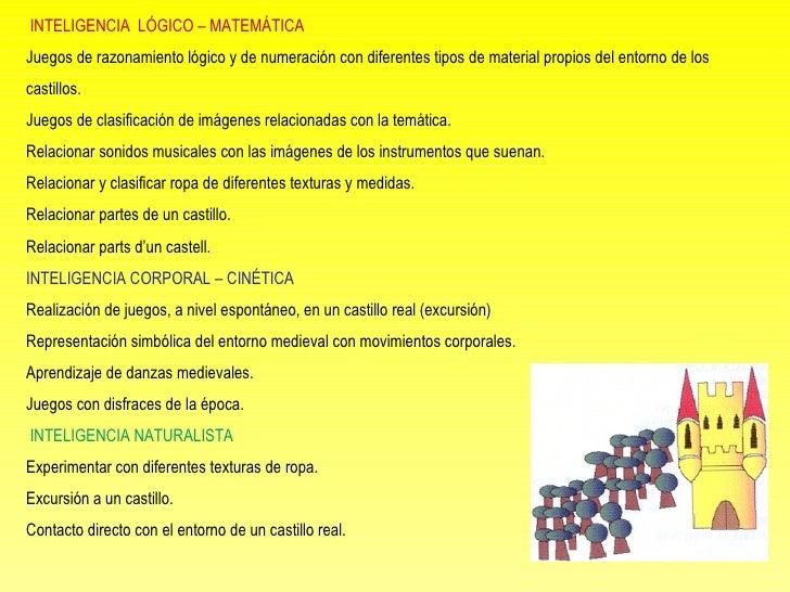 INTELIGENCIA  LÓGICO – MATEMÁTICA Juegos de razonamiento lógico y de numeración con diferentes tipos de material propios...