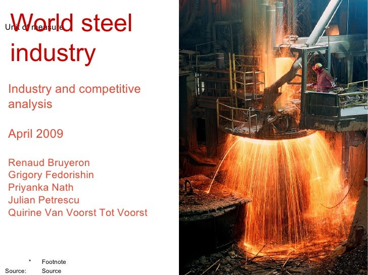 synopsis of steel industry in india Iron and steel industry in the united states in 2014, the united states was the world's third-largest producer of raw steel (after china and japan), and the sixth-largest producer of pig iron  the industry produced 29 million metric tons of pig iron and 88 million tons of steel.