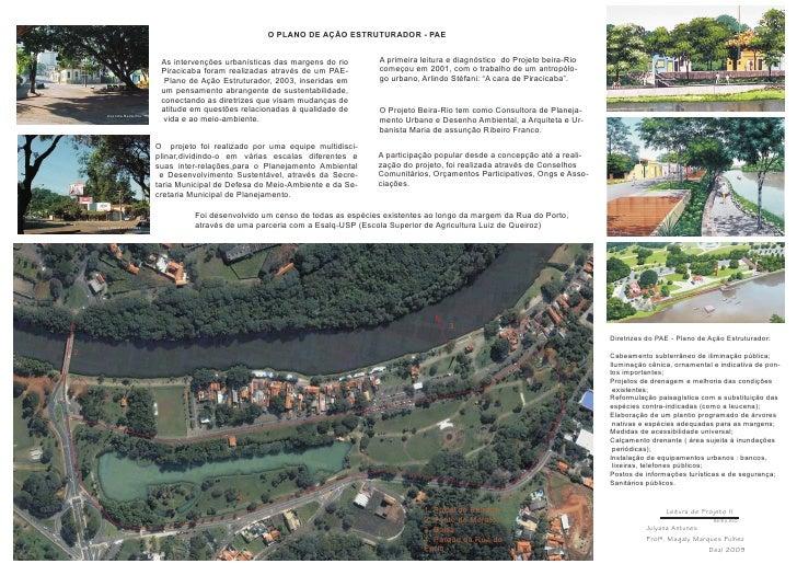 O PLANO DE AÇÃO ESTRUTURADOR - PAE                                 As intervenções urbanísticas das margens do rio      A ...