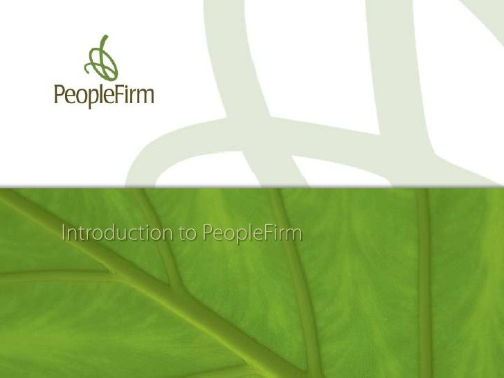 Introduction to PeopleFirm<br />