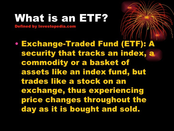exchange traded funds etfs definition
