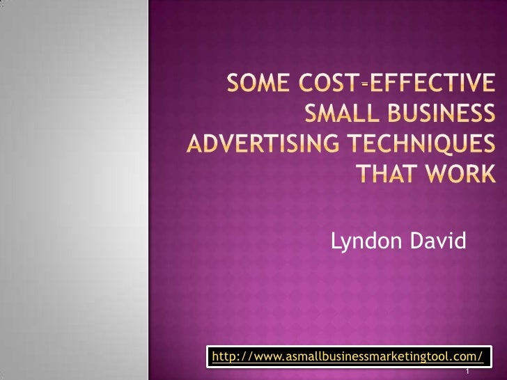 cost-effective small business advertising techniques that work