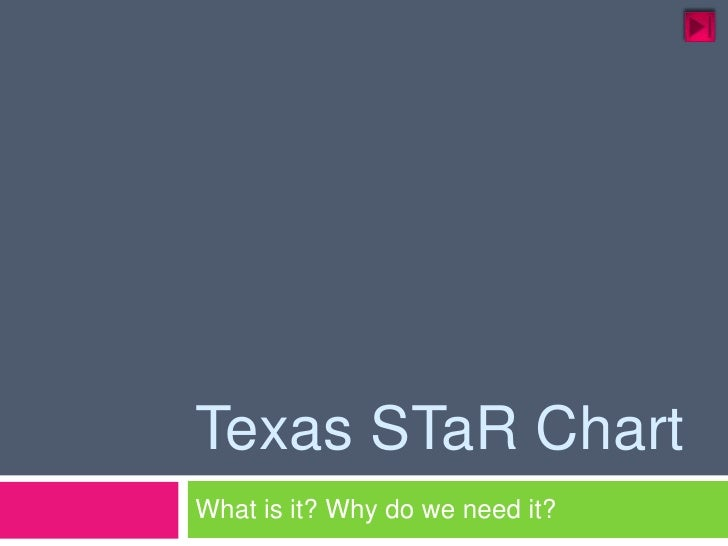 Texas STaR Chart<br />What is it? Why do we need it?<br />