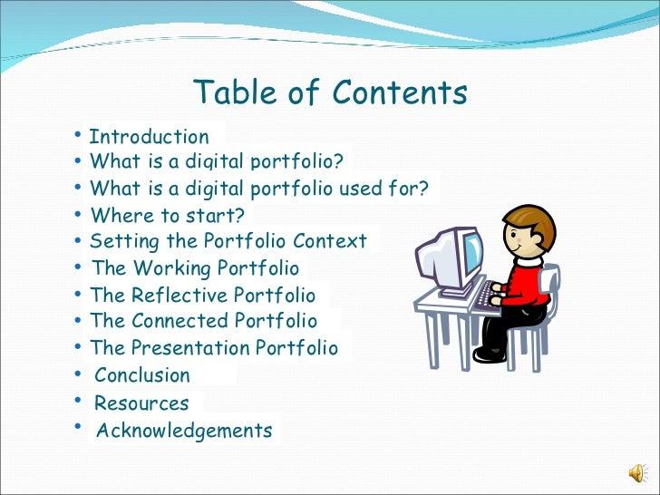Create a Digital Portfolio PowerPoint