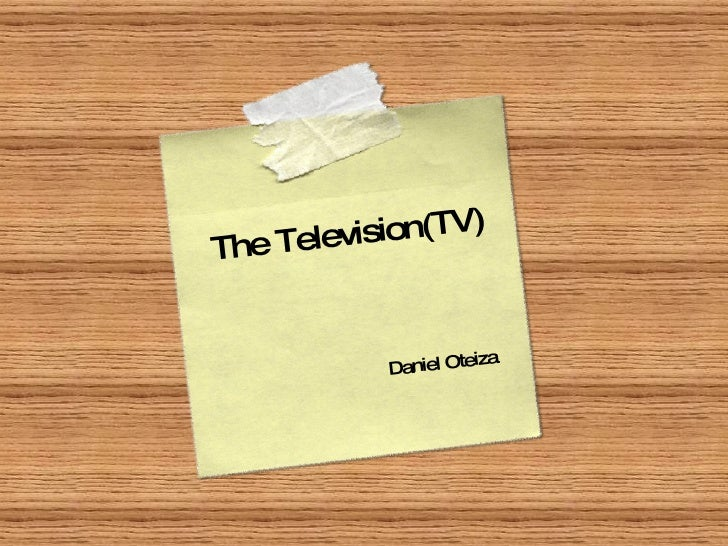 The Television(TV) Daniel Oteiza