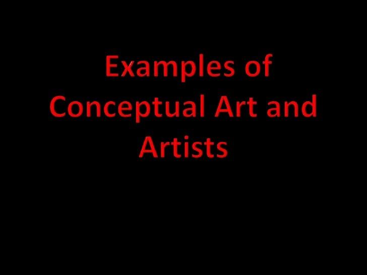 Conceptual Art grade 12 art history