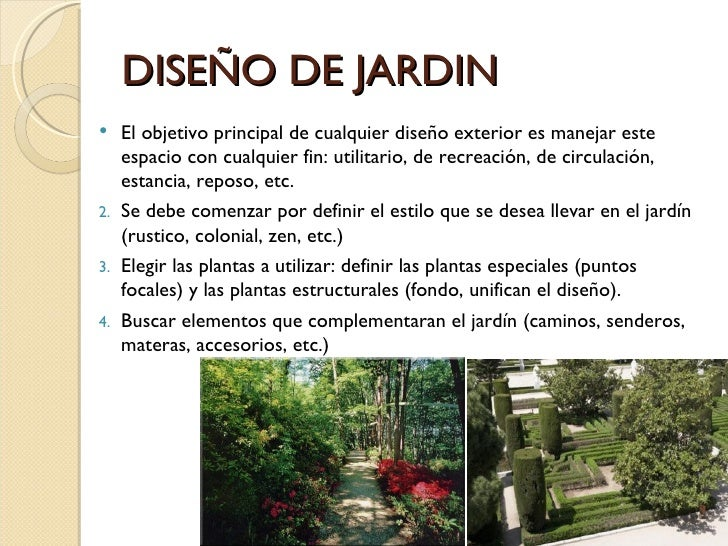 Paisajismo for Como disenar un jardin exterior