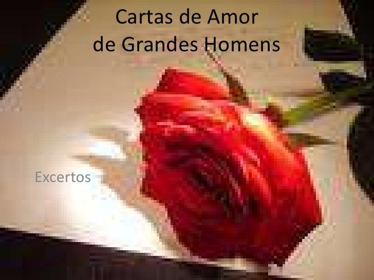 Cartas de Amor de Grandes Homens<br />Excertos<br />