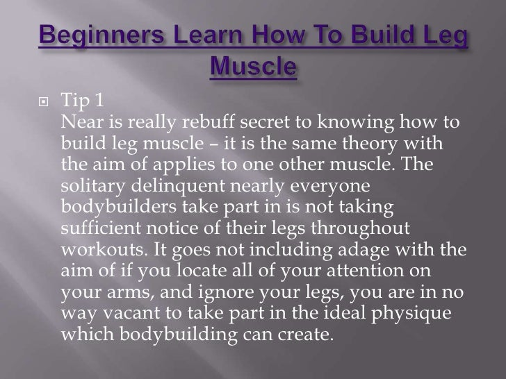 how to build leg muscle in a week