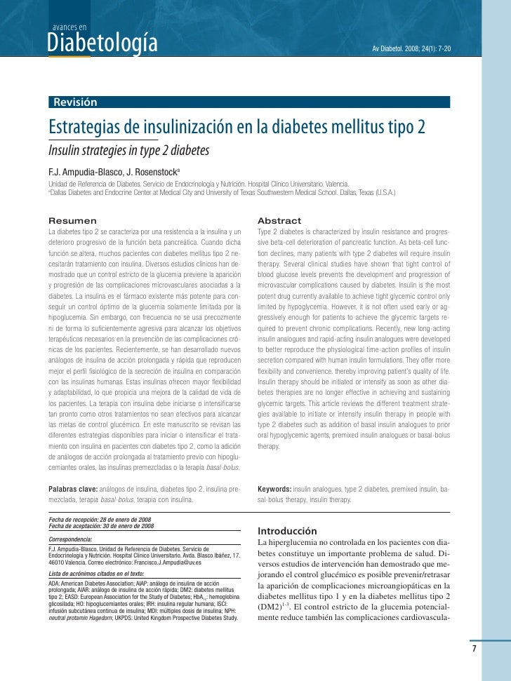 avances en Diabetología                                                                                                   ...