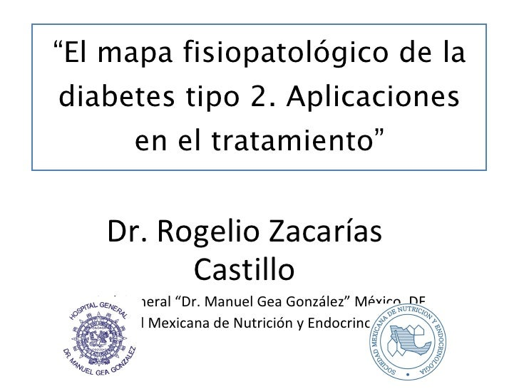""""""" El mapa fisiopatológico de la diabetes tipo 2. Aplicaciones en el tratamiento"""" Dr. Rogelio Zacarías Castillo Hospital Ge..."""