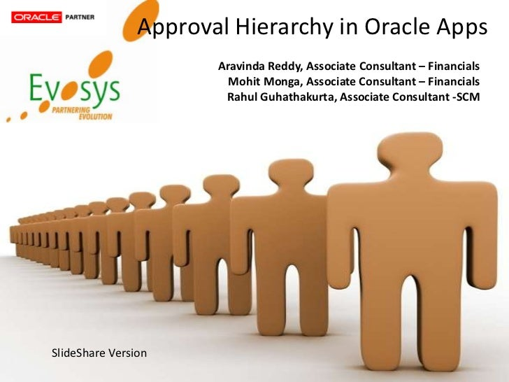 Approval Hierarchy in Oracle Apps                               Aravinda Reddy, Associate Consultant – Financials         ...