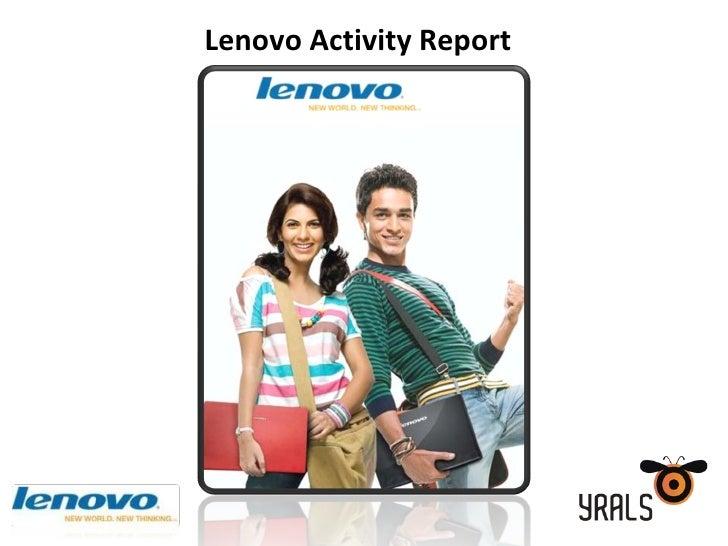 Lenovo Activity  Report