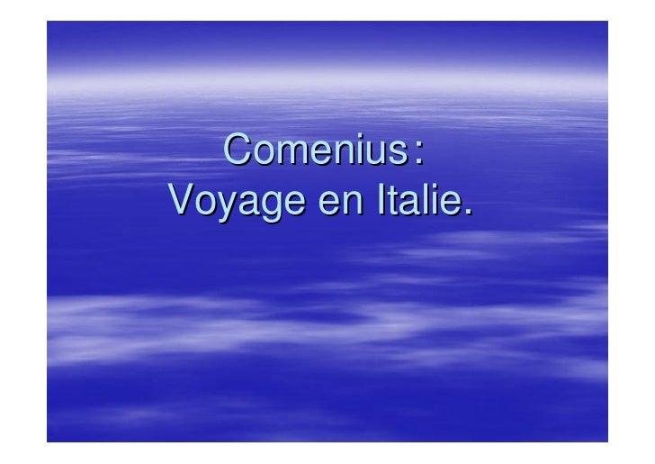 Comenius: Voyage en Italie.
