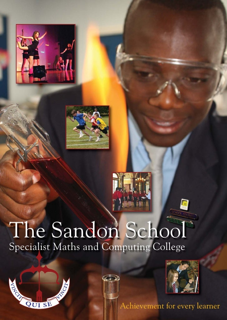 The Sandon School Specialist Maths and Computing College                            Achievement for every learner