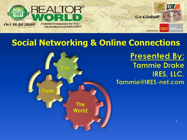 Social Networking & Online Connections<br />Presented By:<br />Tammie DrakeIRES, LLC.<br />Tammie@IRES-net.com<br />1<br />