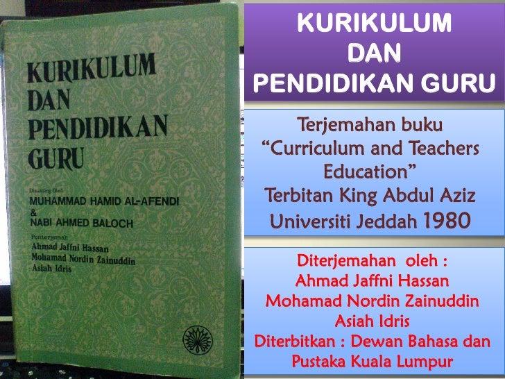 ULASAN BUKU KURIKULUM & PENDIDIKAN ISLAM