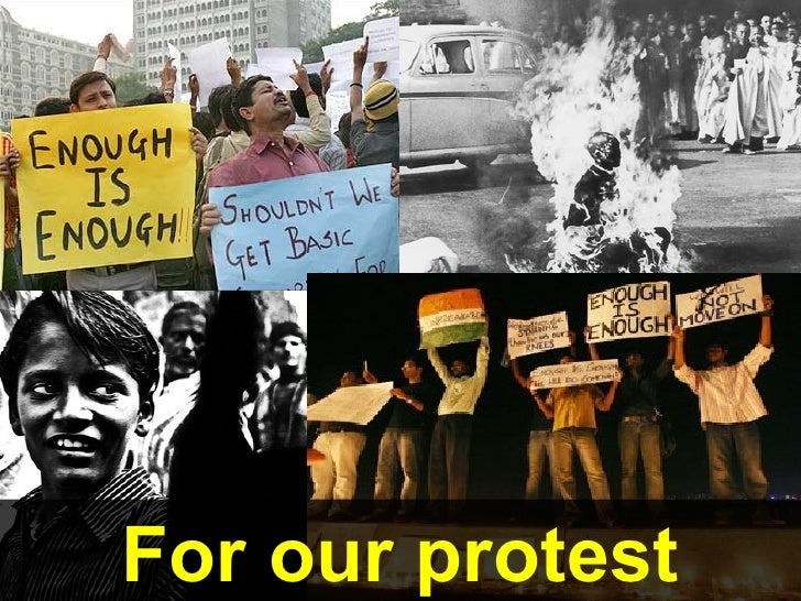 For our protest