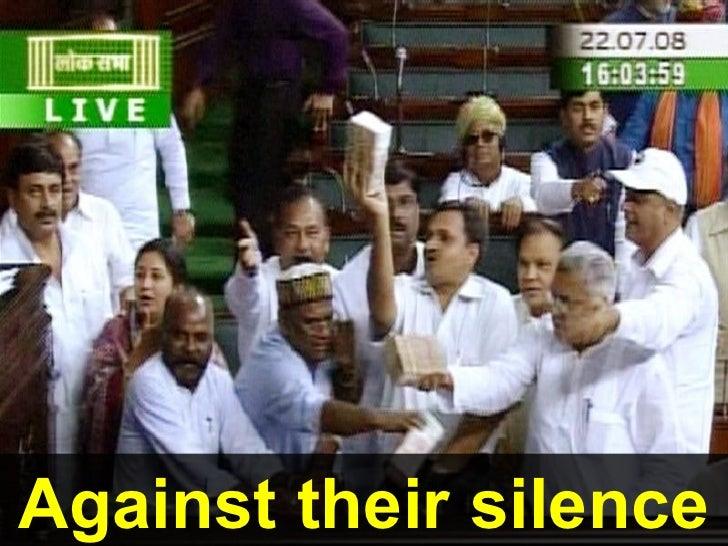 Against their silence