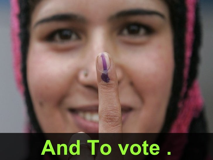 And To vote .