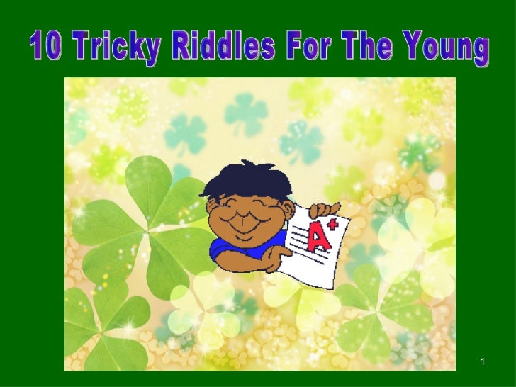 10 Tricky Riddles For The Young