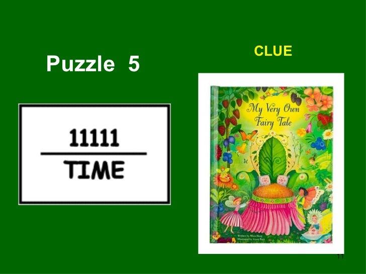 Puzzle  5 CLUE