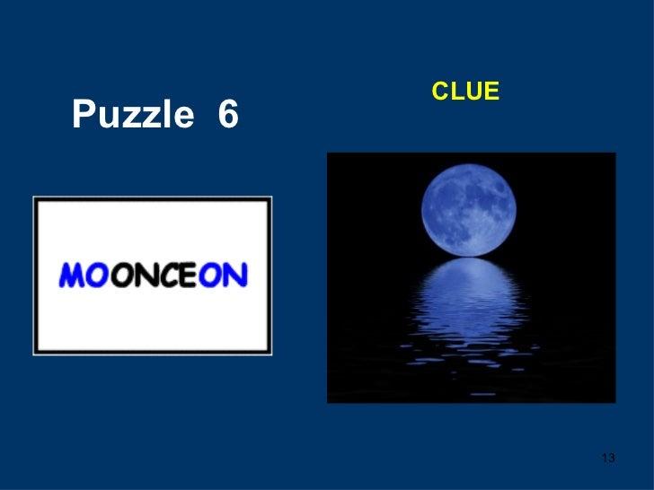 Puzzle  6 CLUE