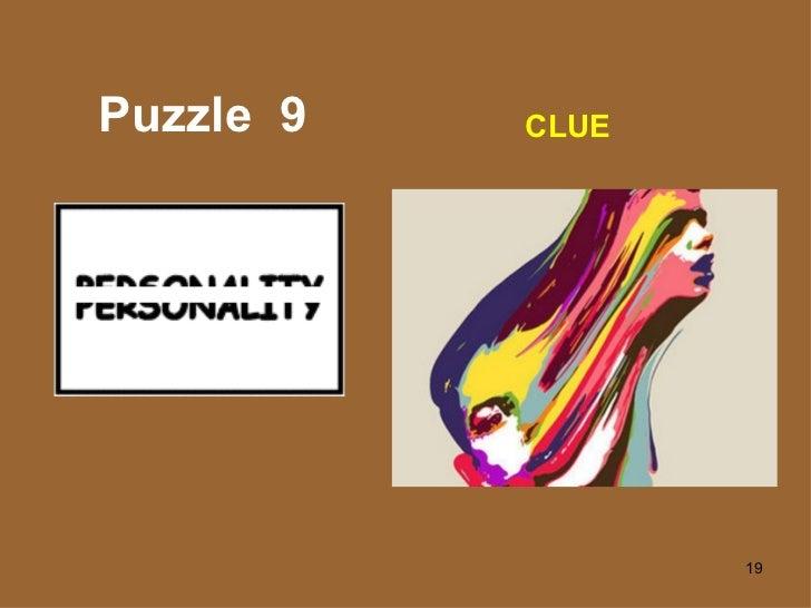 Puzzle  9 CLUE