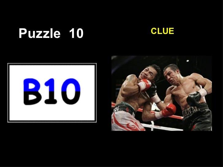 Puzzle  10 CLUE