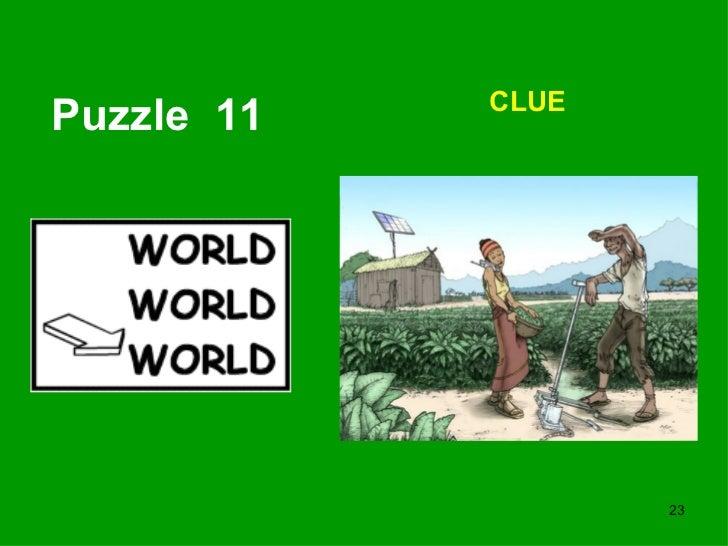 Puzzle  11 CLUE