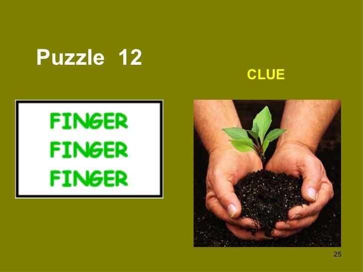 Puzzle  12 CLUE