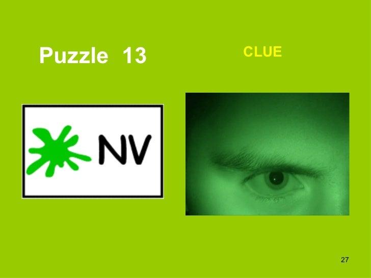 Puzzle  13 CLUE